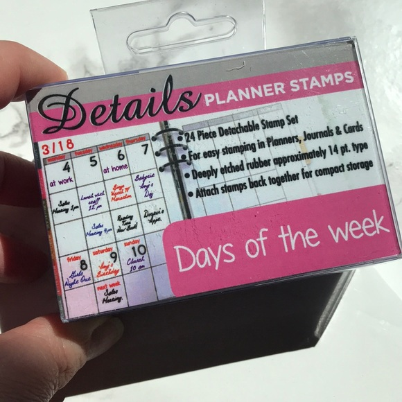 Details Planner Days Of The Week Stamps Nwt